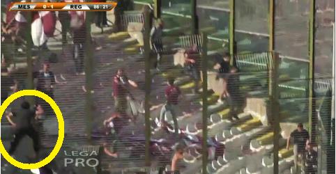 (FOTO&VIDEO) Un ultras si arrampica sulla vetrata? No, è il mister. E' Giacomo Tedesco…