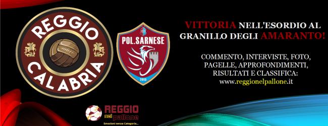 Reggio Calabria-Sarnese 1-0, il tabellino