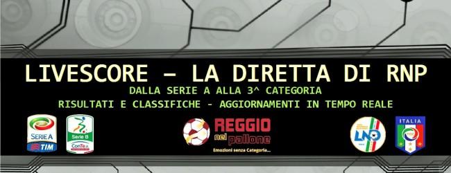 Live Risultati E Classifiche In Tempo Reale Dalla Serie A Alla Terza Categoria Segui La Diretta Reggionelpallone