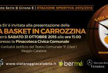 Sabato 31 ottobre presentazione Viola Basket in Carrozzina