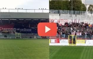 [FOTO&VIDEO] Vibonese-Reggio: spettacolo sugli spalti (e amicizia tra le tifoserie)