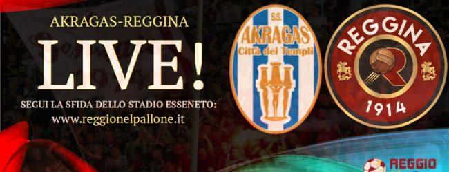 LIVE! AKRAGAS-REGGINA 2-2, risultato finale