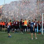 Reggina-Messina esultanza ultras Curva Sud