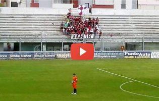 """[VIDEO] """"Non tifo per gli squadroni, tifo per te"""" anche al Veneziani abbraccio Reggina-Ultras"""
