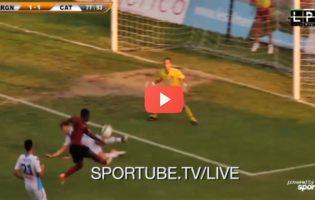 [VIDEO] La Reggina riacciuffa il Catania: rivivi il gol di Andy Bangu!