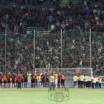 Reggina-Juve Stabia 10/10/16 squadra sotto la Curva Sud
