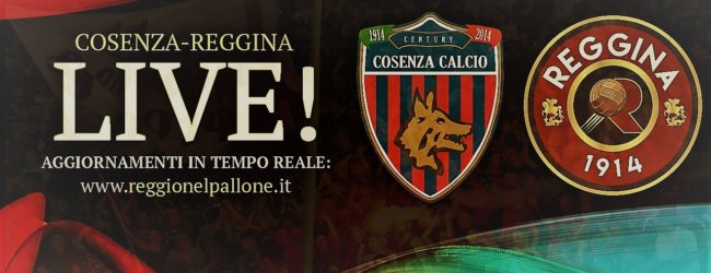 """LIVE! Cosenza-Reggina 1-1, il derby al """"San Vito-Marulla"""" termina in pareggio"""