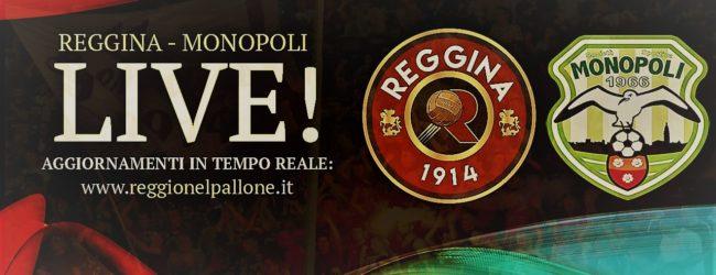 LIVE! REGGINA-MONOPOLI 0-0, è finita