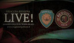 LIVE! SIRACUSA-REGGINA 1-1, FINALE