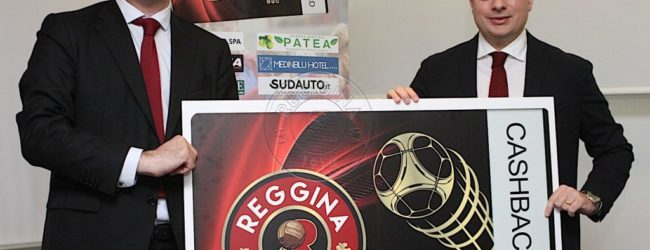 Reggina, presentata la partnership con la Cashback World