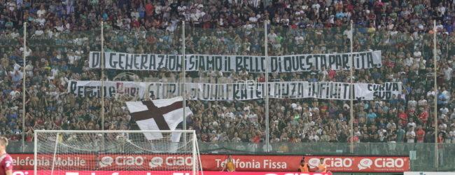 Reggina-Bari, sarà uno spettacolo da A: settore ospiti verso il sold out, coreografia in Curva Sud