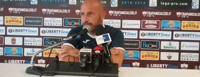 """Trapani, Italiano: """"Ottimo primo tempo, nella ripresa abbiamo gestito il risultato"""""""