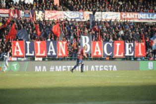 [FOTO NOTIZIA] Cosenza-Ascoli, i tifosi rossoblù salutano Baclet con una coreogfrafia