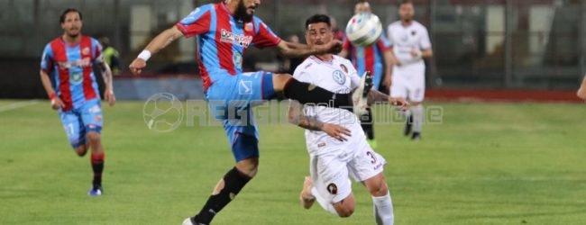 """La corsa play-off della Reggina si ferma a Catania: poker etneo al """"Massimino"""" (4-1)"""