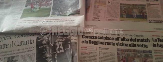 Reggina, i titoli dei giornali dopo la partitissima col Bari