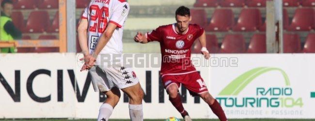 Il Bari si aggrappa alla fortuna, Perrotta nel finale riacciuffa la Reggina