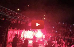 """VIDEO – La passione Reggina arde, Reggio canta:""""Non tifo per gli squadroni, tifo per te"""""""