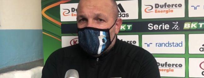 """Virtus Entella, Tedino: """"La mia squadra ha dimostrato di avere attributi belli grandi"""""""