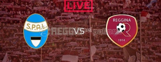 LIVE!Spal-Reggina: 1-4 FINALE